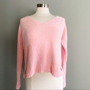 Pink V Neck Hollister Sweater | Size S